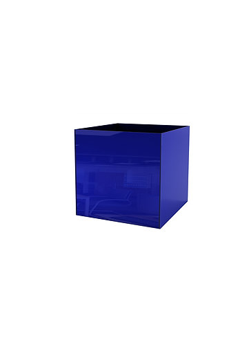 Кашпо 300х300,  синее стекло