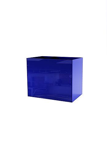 Кашпо  200х400,  синее стекло