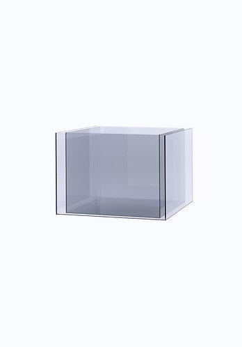 Двойное кашпо из стекла  300х300 (260х260), прозрачное