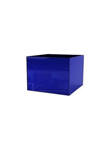 Кашпо  300х400, просветленное синее стекло