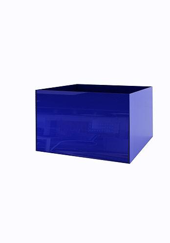 Кашпо 500х500,  синее стекло