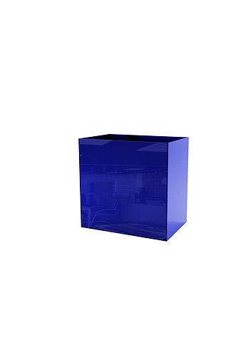 Кашпо  200х300,  синее стекло