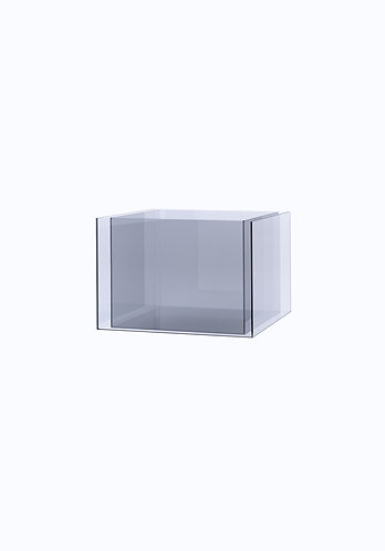Двойное кашпо из стекла  300х400 (260х360), прозрачное