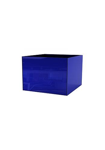 Кашпо  400х500,  синее стекло