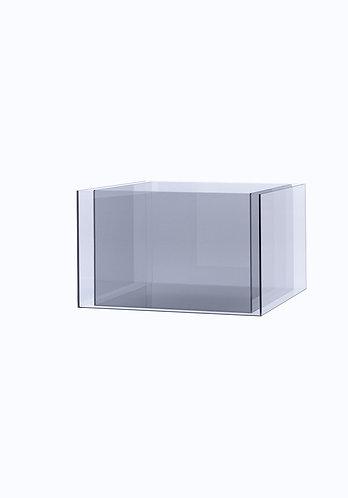 Двойное кашпо из стекла  500х500 (460х460), прозрачное
