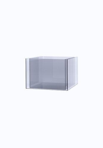 Двойное кашпо из стекла  200х300 (160х260), прозрачное