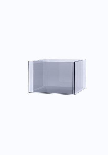 Двойное кашпо из стекла  200х500 (160х460), прозрачное