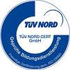 Siegel des TÜV Nord zur Geprüften Bildungdienstleistung nach ISO 29993