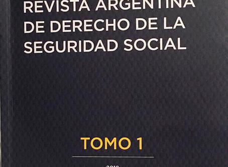 Seguridad Social, aporte de Juan Pablo Chiesa, en anuario especializado