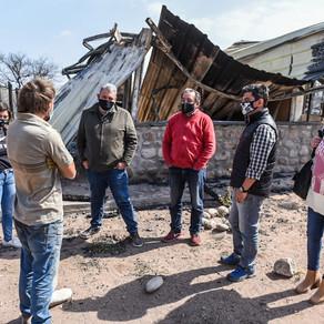 El Ministerio de Desarrollo Social asiste a las familias evacuadas del Valle La Punilla