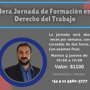 1°  Jornada en Formacion en Derecho del Trabajo.