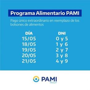 PAMI PAGARÁ UNA SUMA EXTRAORDINARIA EN REEMPLAZO DE BOLSONES ALIMENTARIOS