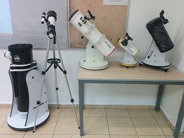 טלסקופים לשימוש תלמידי הקורס