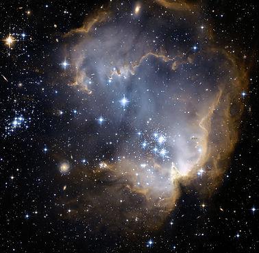 Star cluster and nebula