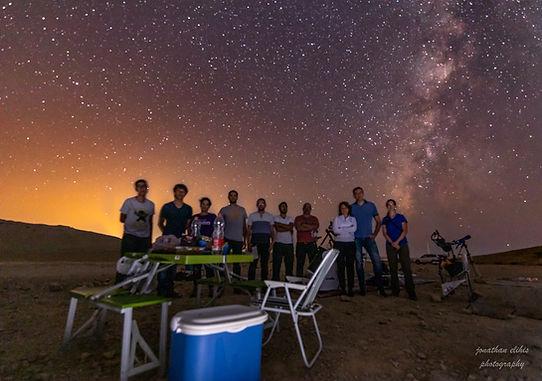 תצפית אסטרונומית עם בוגרי הקורס