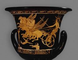 שמש במרכבה על כלי יווני עתיק