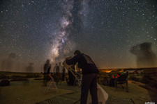 Observation and Milky Way. Photo by Yona