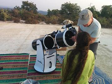 הסבר על אופן תפעול הטלסקופ