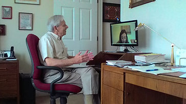 Image of Fred and Helen talking via Skype