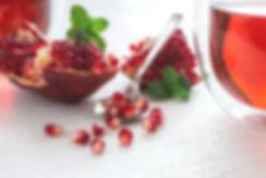 Pomegranate and Pomegranate Tea by Hanna Tor