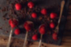 Raspberries and chocolate by Hanna Tor
