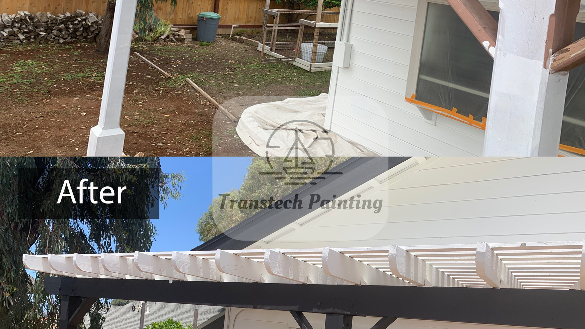 Pergola, before and after