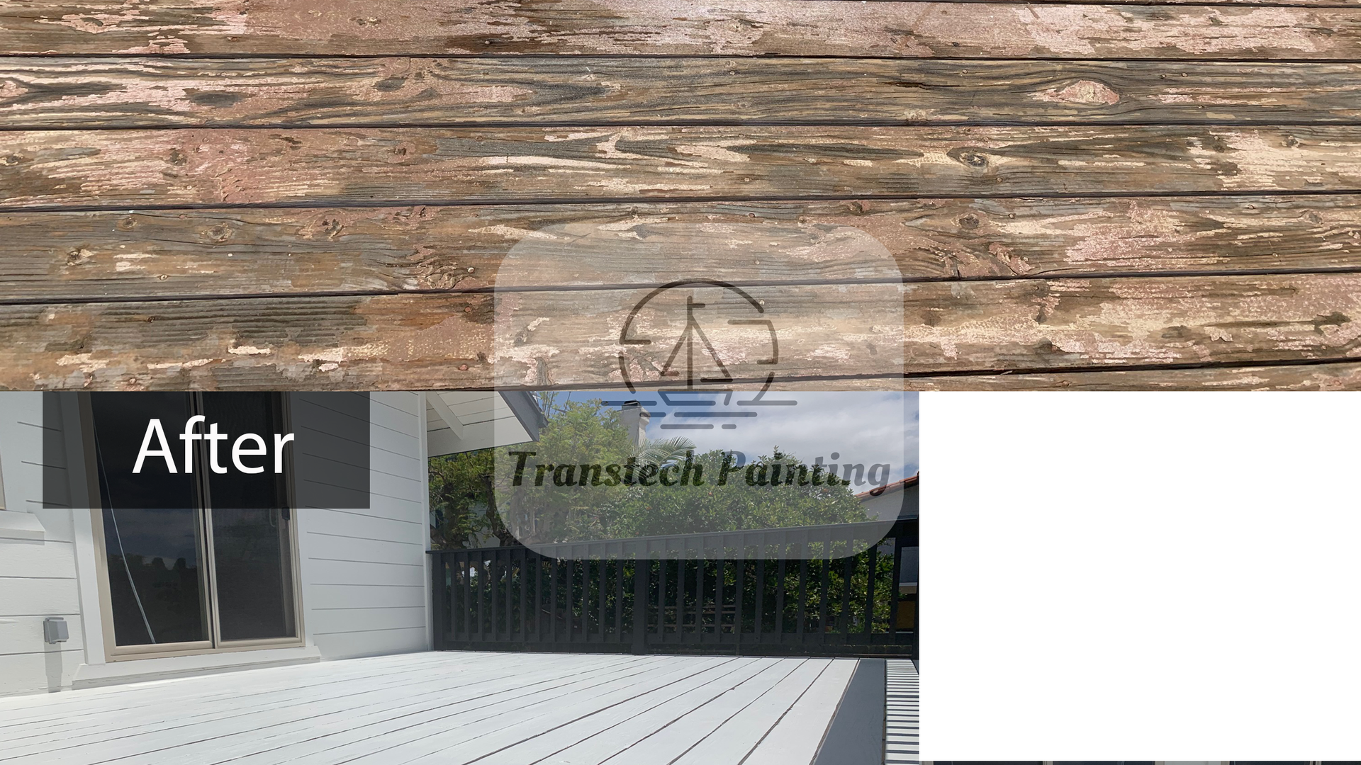 Deck, before and after