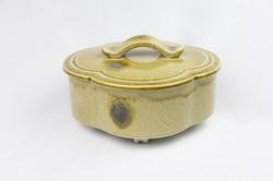 黄瀬戸 木瓜食籠(景陶作)