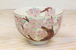 仁清冬茶碗 古木桜(隆山作)