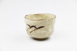 志野野点茶碗(景陶作)