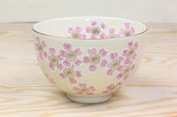 仁清冬茶碗 イッチン桜(隆山作)
