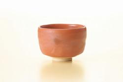 赤楽茶碗(卓山作)