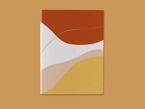 Caderno Costurado Abstrato Comfy