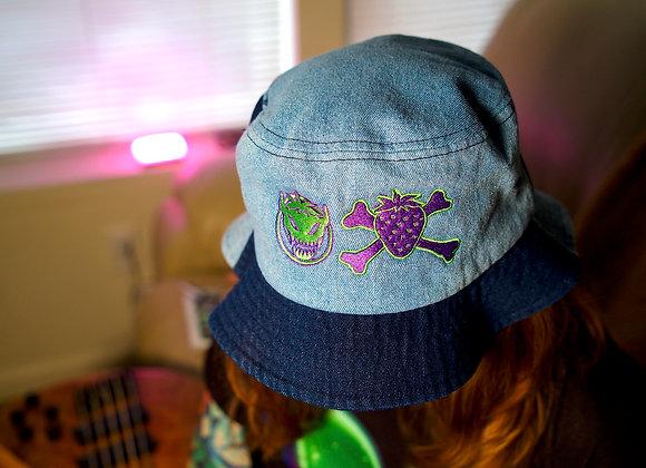 Denim Logo Bucket Hat