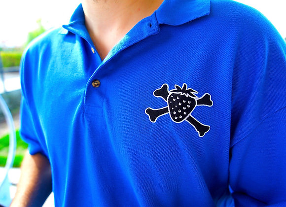 Strawberry Crossbones Logo Polo Shirt