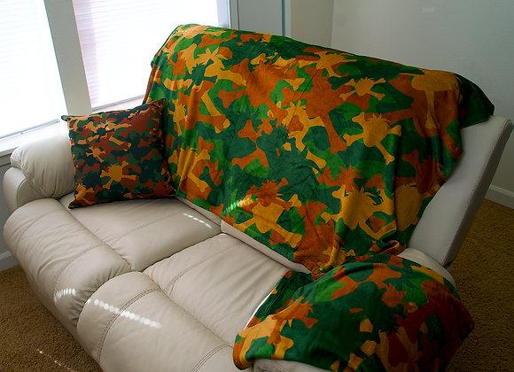 Berried Alive Camo Print Throw Blanket