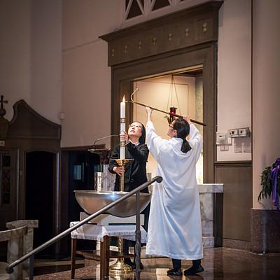 베이사이드 성당 세례식