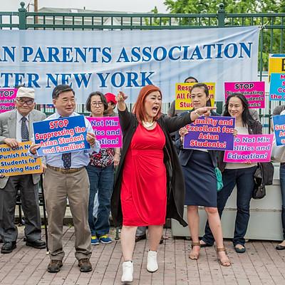특목고 시험 폐지를 반대하는 기자회견과 시위-한인 학부모 협회