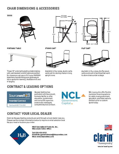 Clarin Tablet Arm Portable Chair Promoti