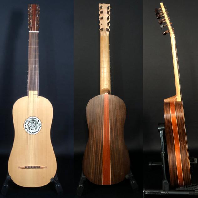 Baroque guitar Nicolas Petit, Tours, 2015
