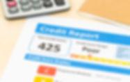 Poor credit score report with calculator