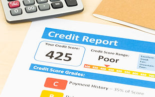 Poor credit score report with calculator