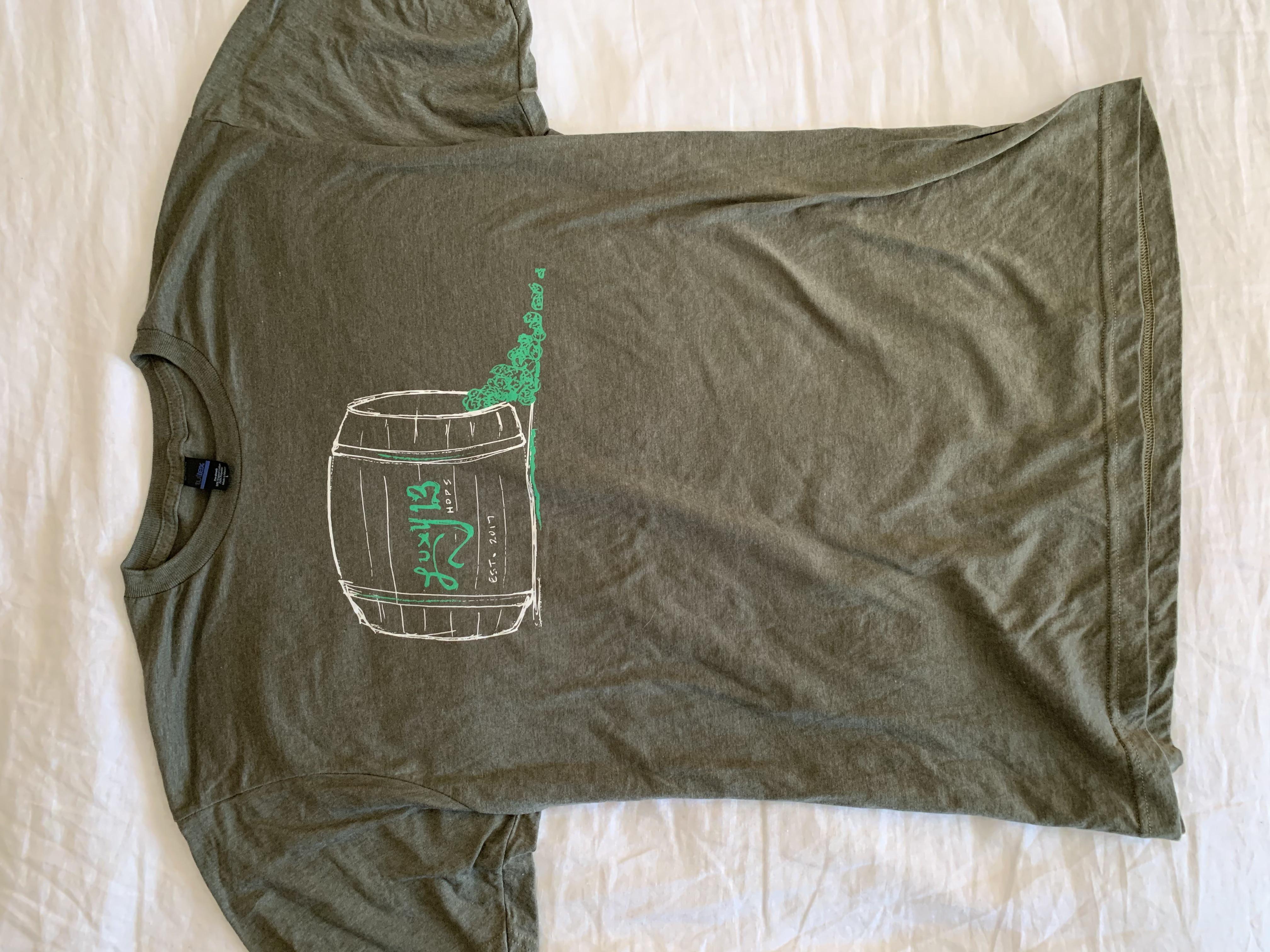 Military Green Short Sleeve Barrel T