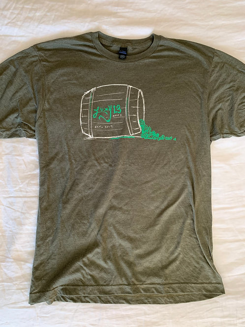 Military Green Short Sleeve Barrel T