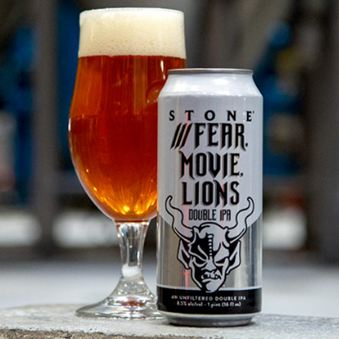 Stone Fear Movie Lions Double IPA 16oz