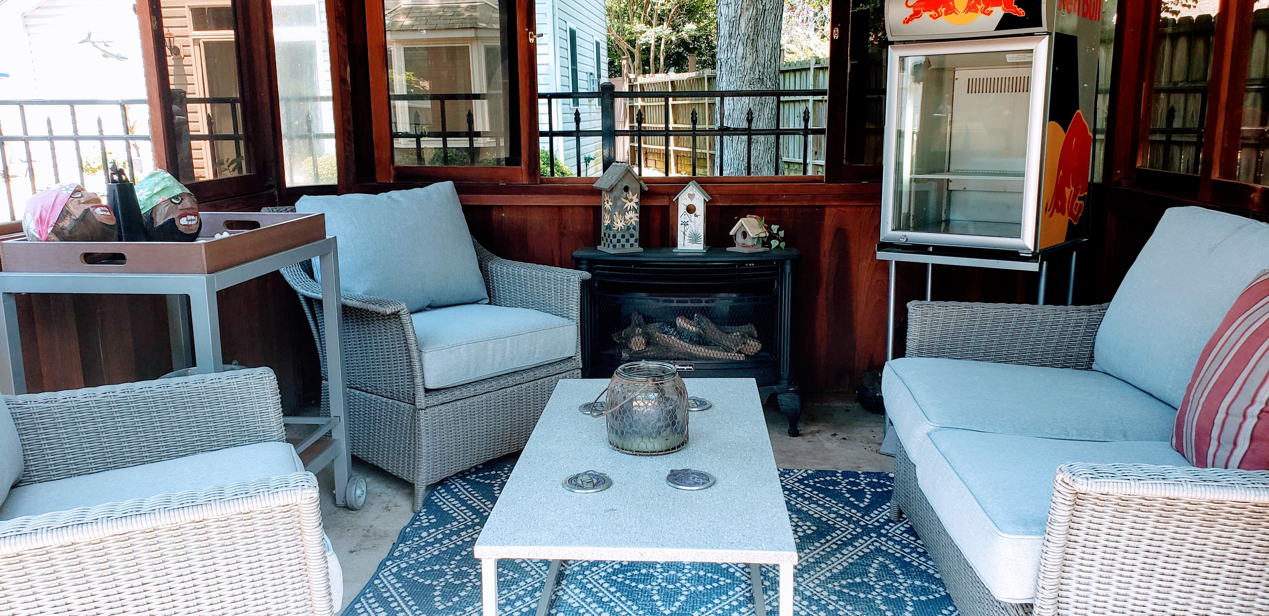 Relax by the Cabana Fireplace