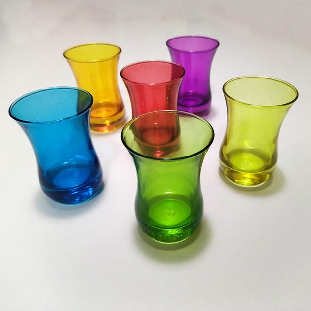 6 pcs Moroccan Glass Tea Set - $28
