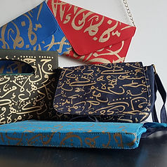 Arabic Calligraphy Hang Bags and Apparel