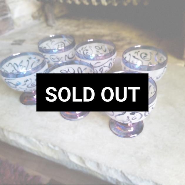 6 pcs blue Arabic Calligraphy dessert bowl Set - $45