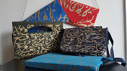Arabic Calligraphy bags and purses